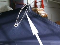 Wantenauschnitte öffnen zum Mast