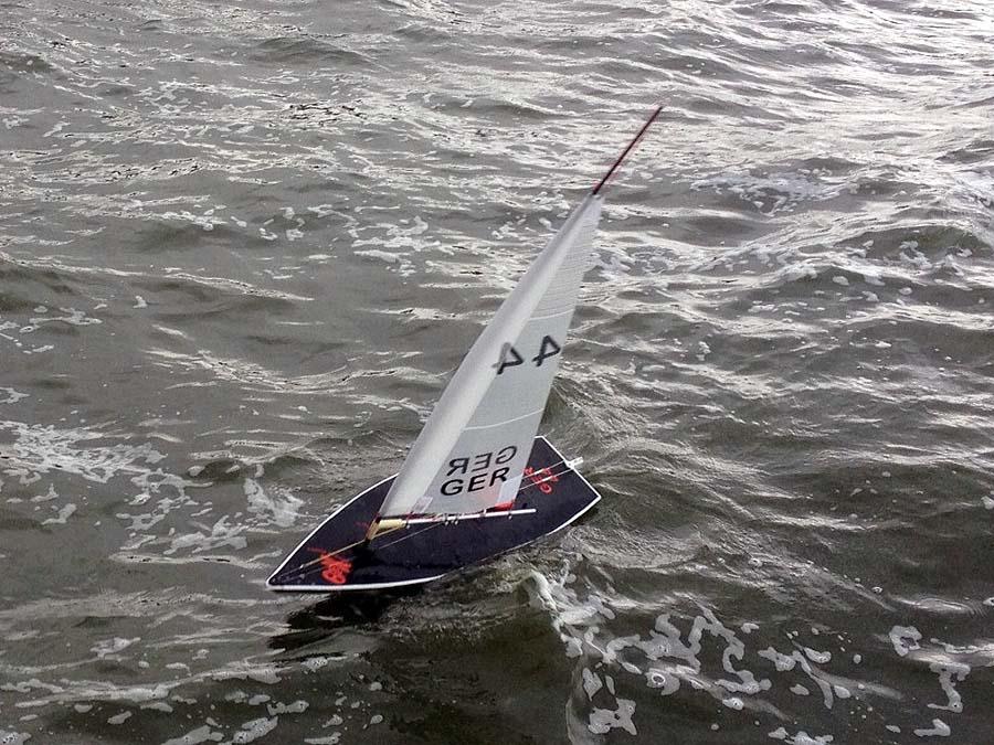 Sturmsegel für RC Laser von Latsch Segel