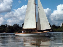 Modellboot von nahem
