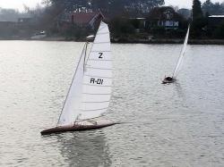Modelboot-Segel von Latsch
