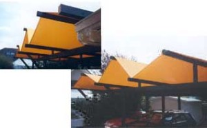 Latsch-Segel-Kreatives-Carport