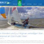 Jan Wanders/ Juul Wigmann gewinnen im 420er in Steinhude