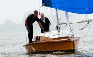 Wilhelm Beckmann / Günther Beckmann, Gewinner der Hüder Pokalwettfahrten im S-Kreuzer. | Bildrechte JP Schröder