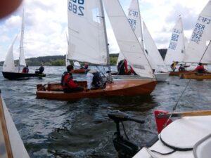 Flying Junior bei German Open am Möhnesee mit Latsch-Segeln. Bildquelle: YCWA